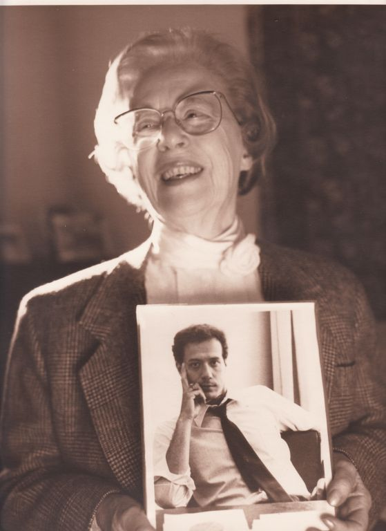 Jeanne Manford holding photo of Morty Manford circa 1993 003